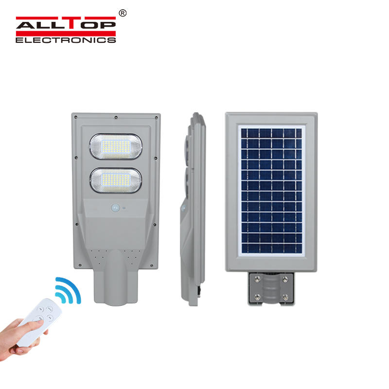 ALLTOP ABS Motion sensor 30w 60w 90w 120w 150w integrated all in one solar street light