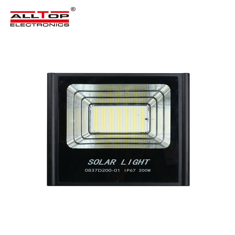 ALLTOP Top quality customize aluminium outdoor ip65 dimmable 50w 100w 150w 200w Led Solar Flood Light