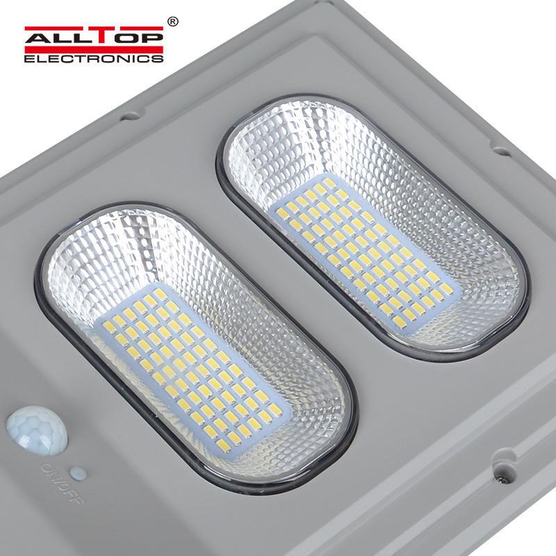 ALLTOP High quality outdoor IP65 waterproof photocell sensor 30w 60w 90w 120w 150w all in one solar led street light lamp
