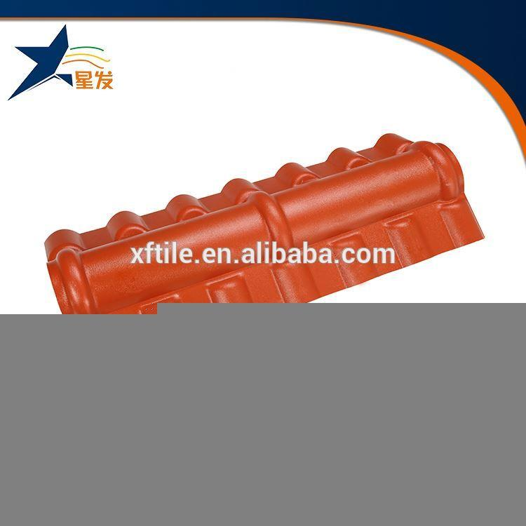 Lasting color roof tile ridge cap