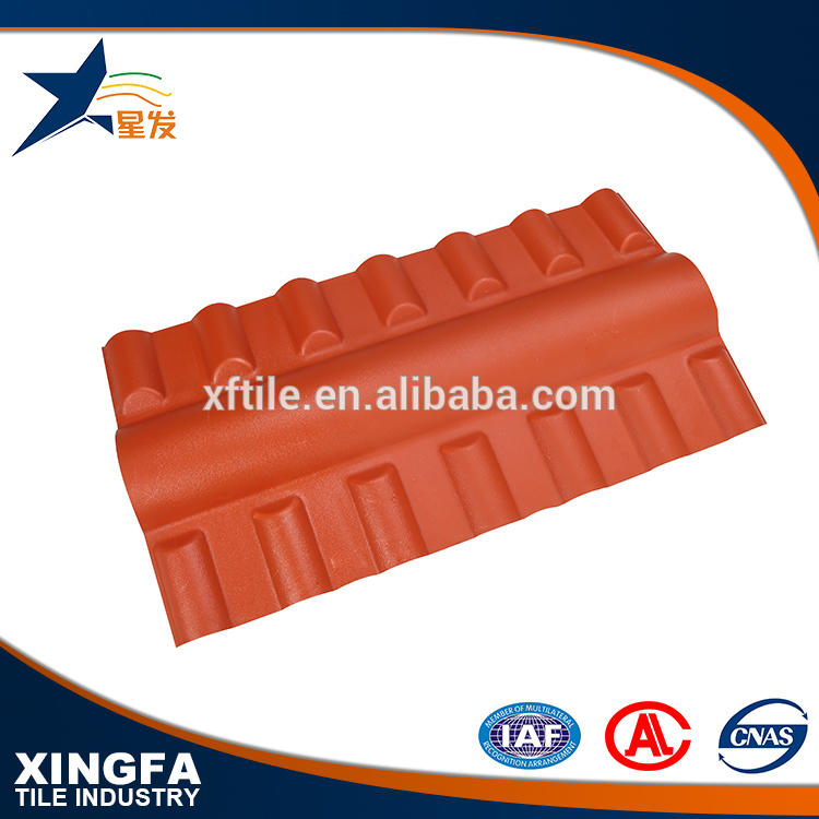 Heat insulation synthetic resin roof ceiling tile accessories high strength ridge tile for roof