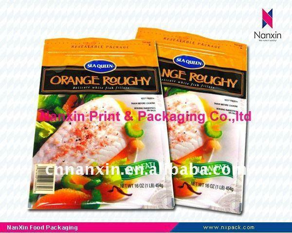 spice plastic packaging bag three side seal bag with zipper