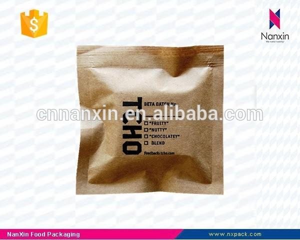 three side seal kraft paper bag for chocolate