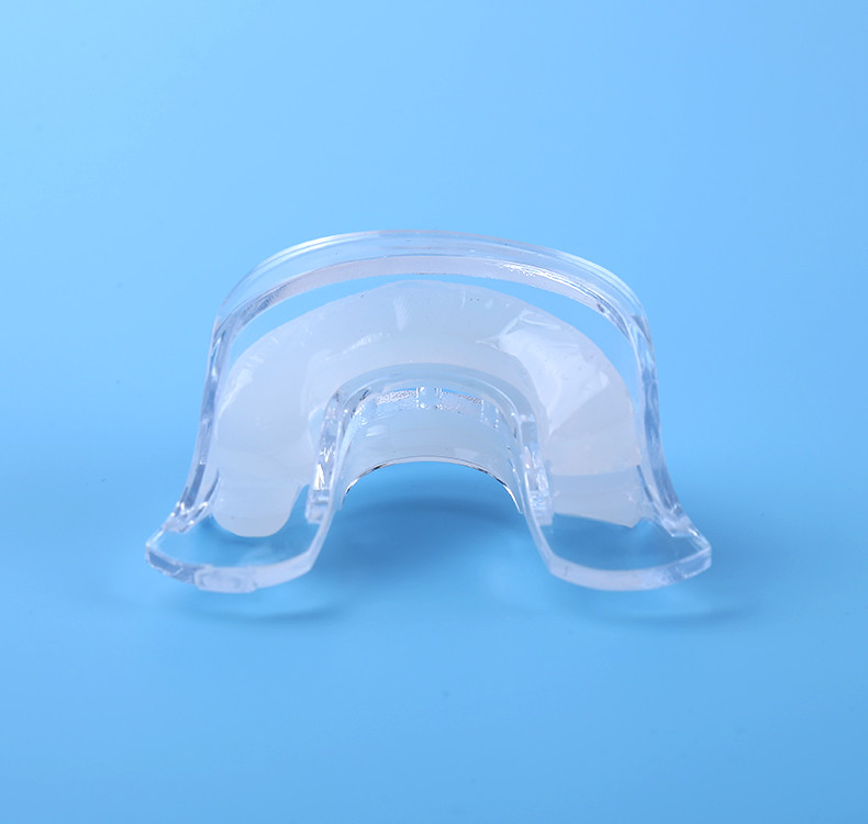 pre-filled silicone mouth tray for teeth whitening