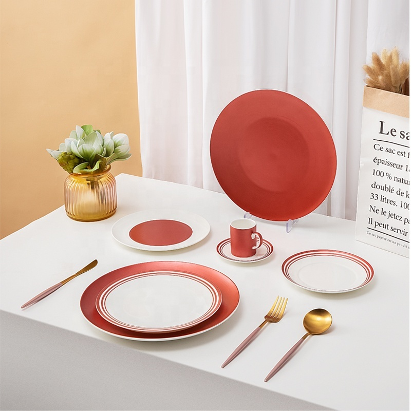 Modern Luxury Horeca Wedding Bone China Plates Catering Tableware Restaurant Hotel Buffet Banquet Ceramic Plates