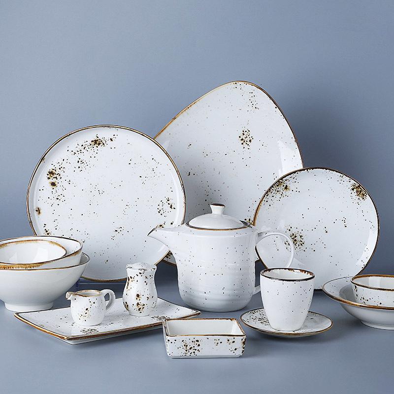 Hotel Ware Buffet Hospital Restaurant Crockery Tableware Food Plate Ab Grade Simple Dining Brand Dinnerware>