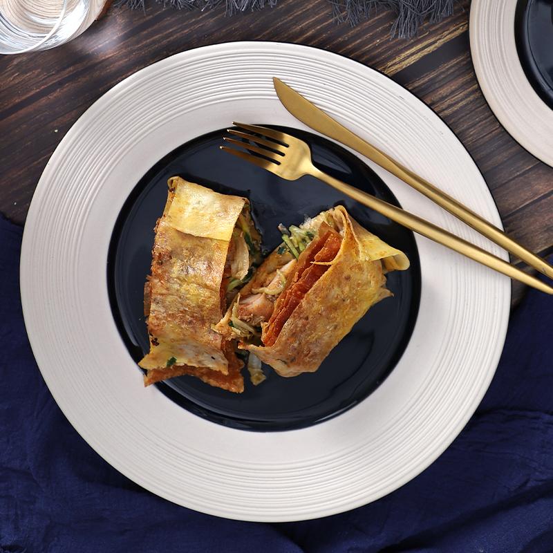 Wholesale 2020 New Design Ceramics Plate Restaurant Dinner Plates Set Food Porcelain Serving Plates