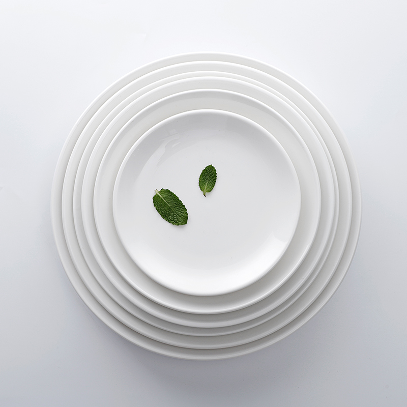 Cheap Bulk Restaurant Stoneware Dining Plates Dishes Coupe Dinner Plates*