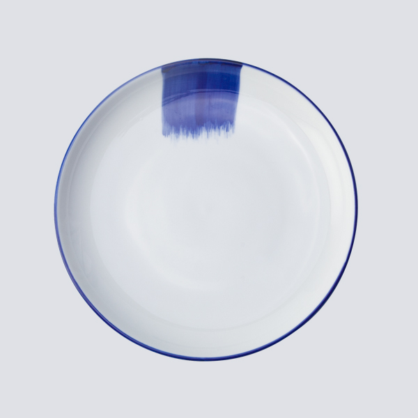 Handmade Colored Ceramic Plate High Temperature Hotel Dinnerware%