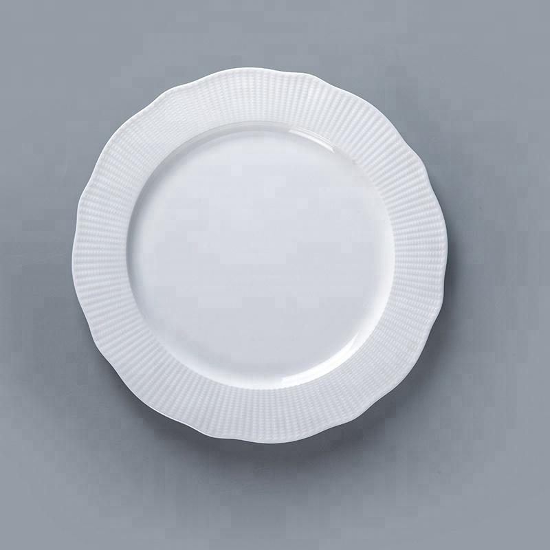 plain white royal fine bone china dinner ware plate set