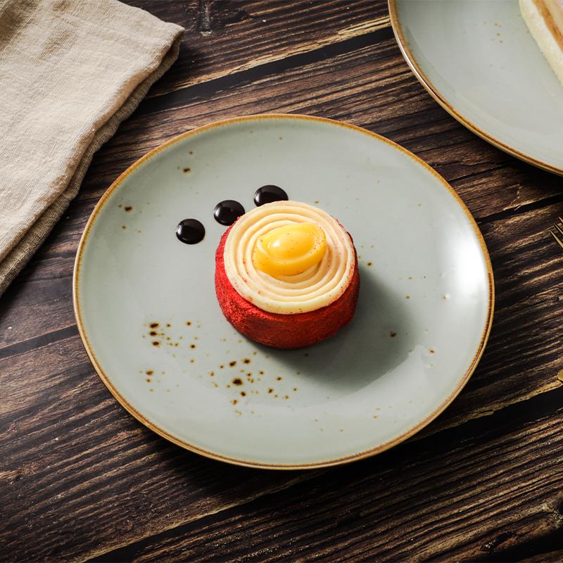 China importing Dessert Porcelain Dinner Plate, Guangzhou Factory Ceramics Dinner Dishes,Restaurant/Hotel Dinnerware
