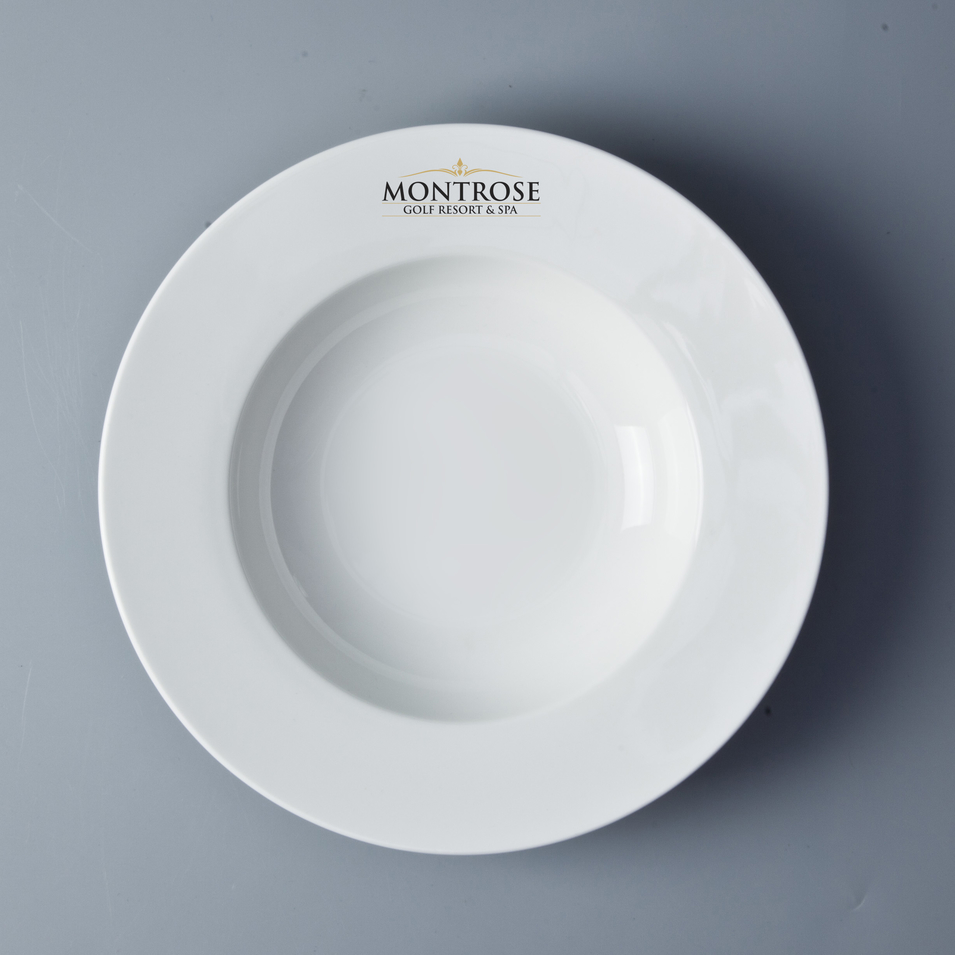 Hotel Restaurant Supplies Tableware Crockery Heated Plates,Dishes Pasta Bowls, Customize Plate For Catering@