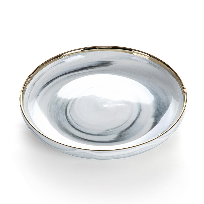 FDA&LFGB Food Grade Paint High Temperature Crockery For Restaurants America Golde Tableware, Dinner Set Marble&
