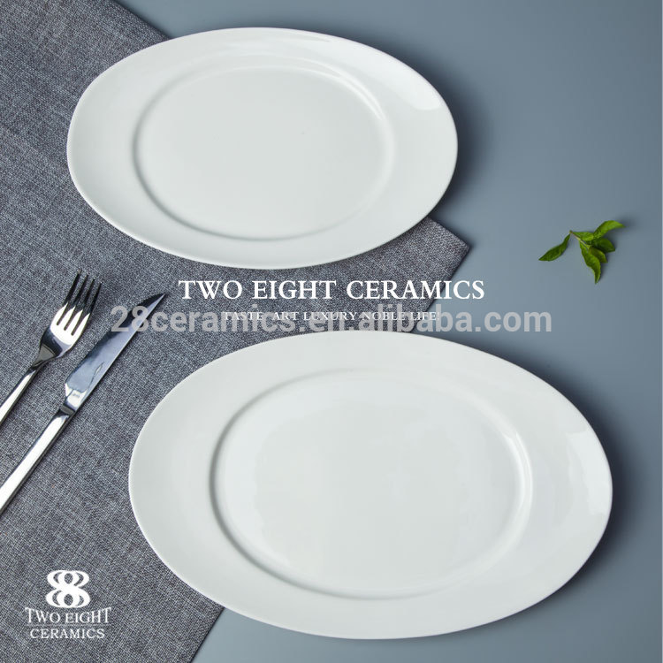 Catering dinner rect porcelain plates restaurant dual purpose tableware restaurant