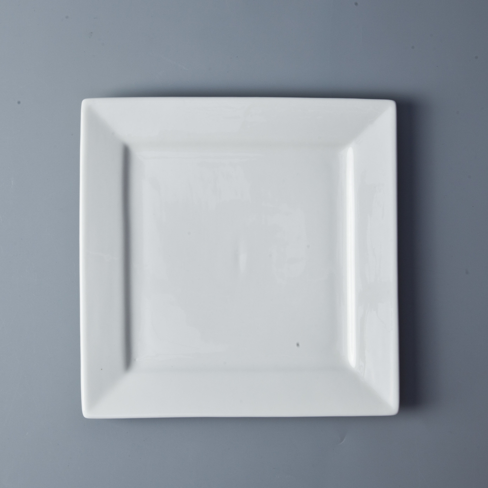 Wholesale Ceramic Square Plate Bulk Dinner Plates For Restaurant, Assiettes Restaurant
