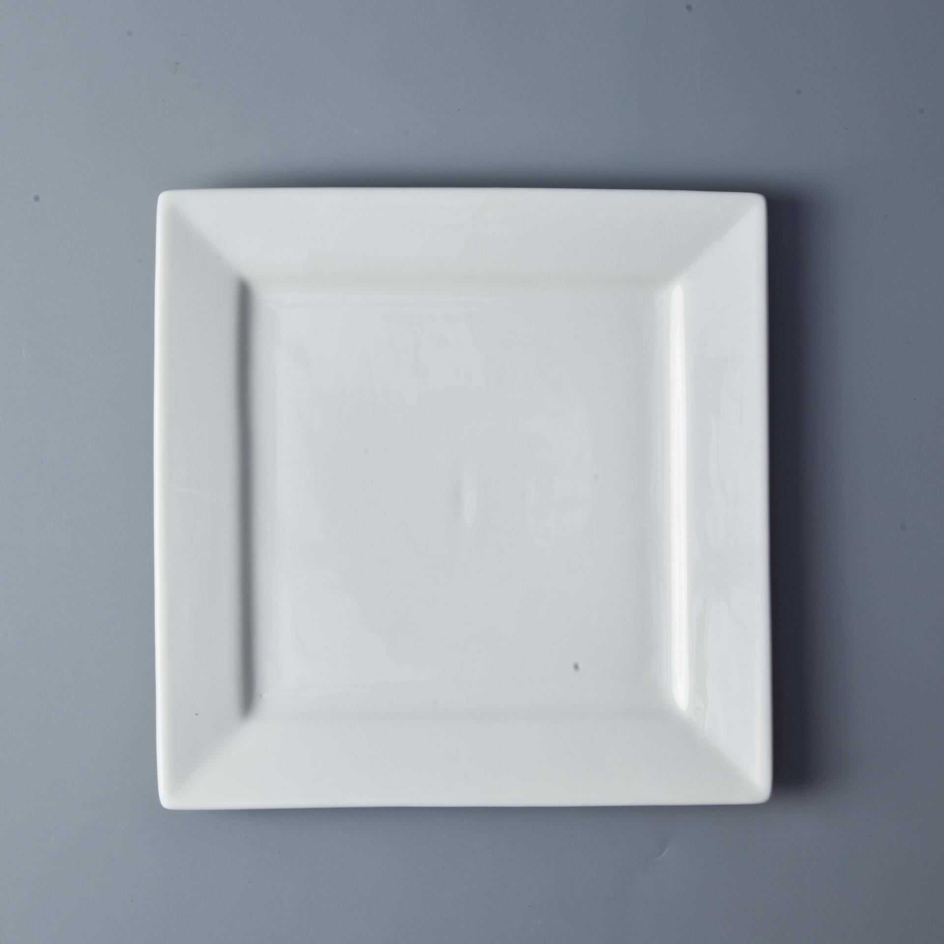 Wholesale Ceramic Square Plate Bulk Dinner Plates For Restaurant, Assiettes Restaurant