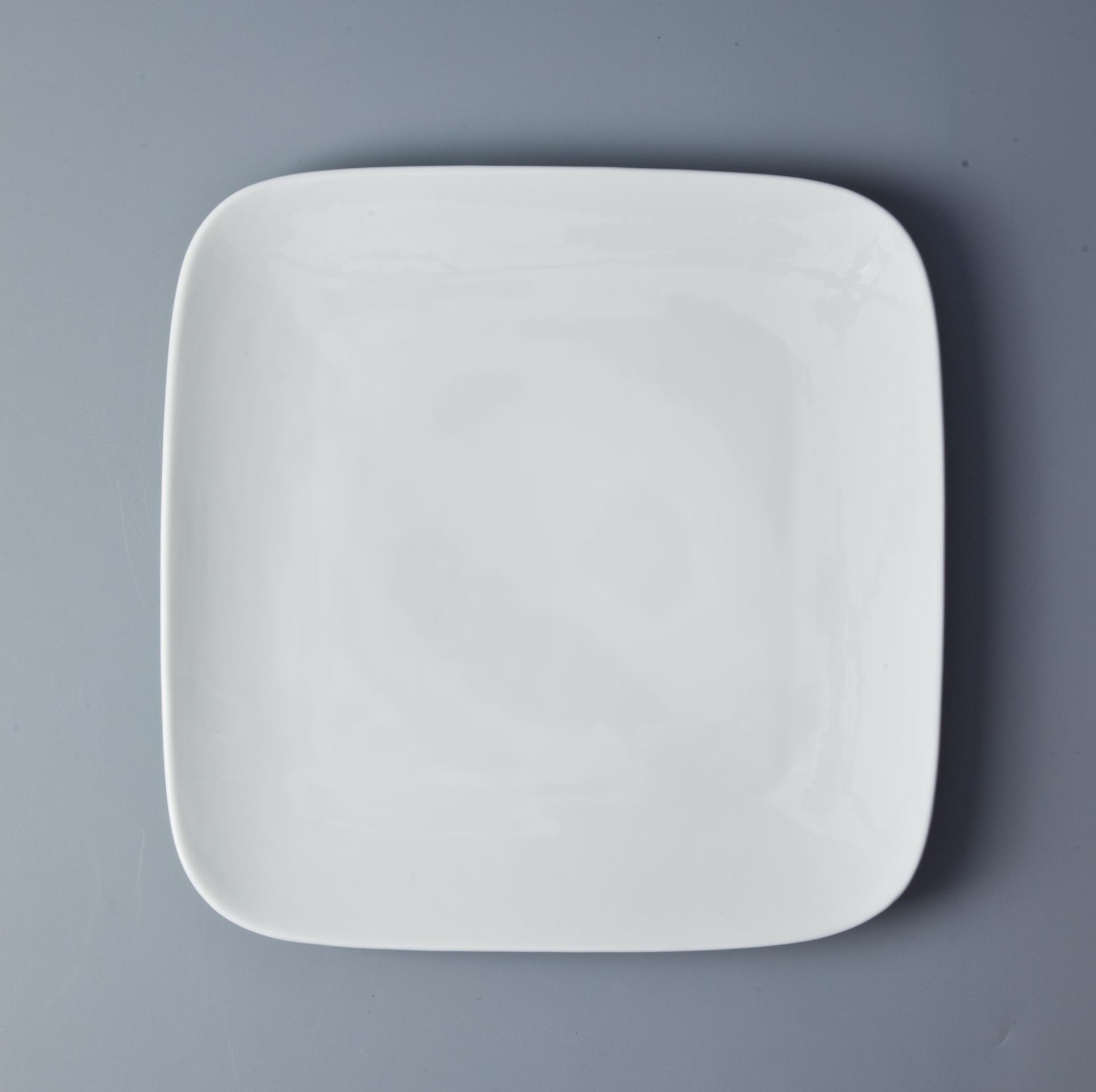 Bulk Porcelain Cheap Price Appetizer Plates, Square Dessert Plate, Party Tableware#
