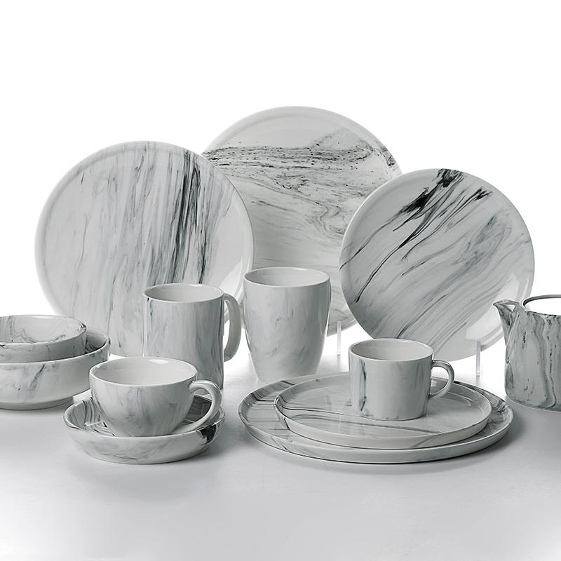 Plates Restaurant Hotel Catering Luxury Crockery Creative Tableware Porcelain Dinner Set Plates Sets Dinnerware