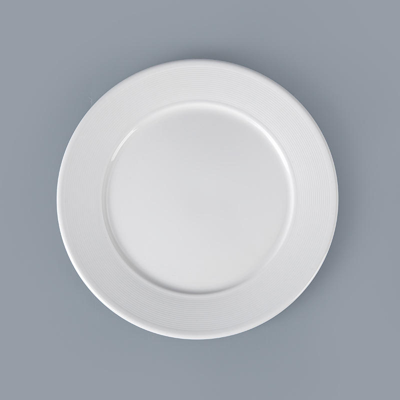 Haoxin Ceramics Chaozhou Wholesale Cheap Catering White Dinner Plates Customize for Weddings Restaurant