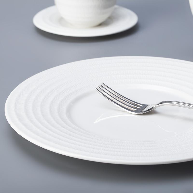 slate dinner plate set dinner modern round plate restaurant