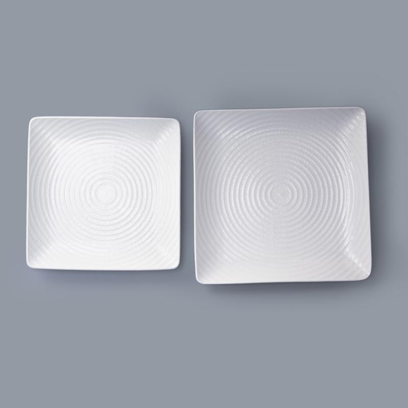 hotel & restaurant crockery tableware square restaurant plates