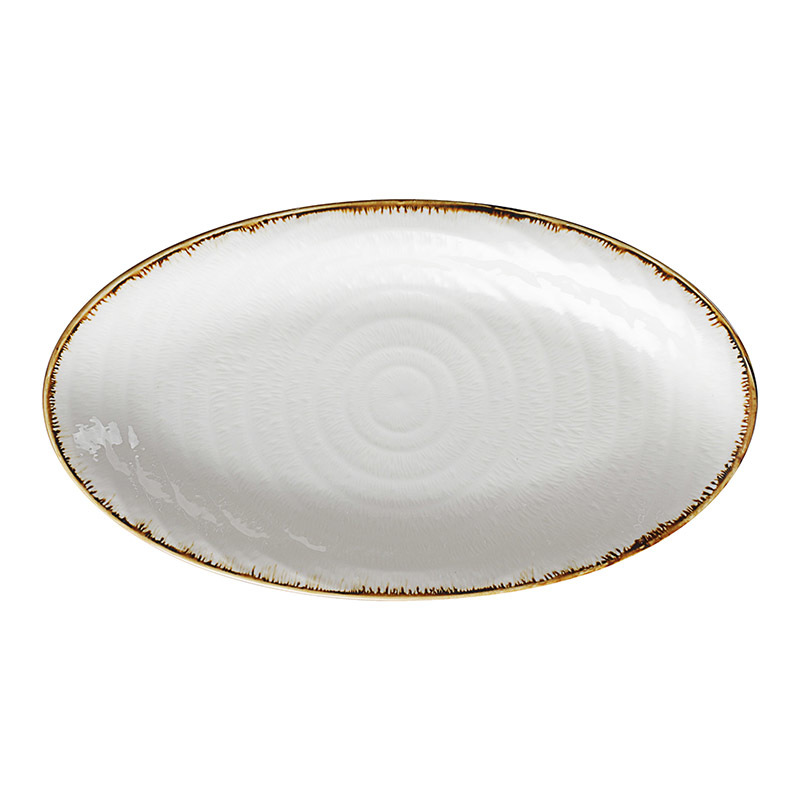 Wholesale Ceramic Tapas Plates White China Hotel Ceramic Oval Plates Bulk*