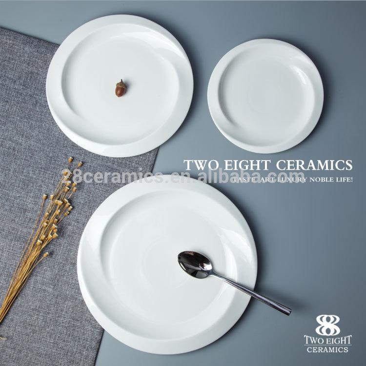 china manufacturer round platter for hotel wedding white ceramics banquet porcelain