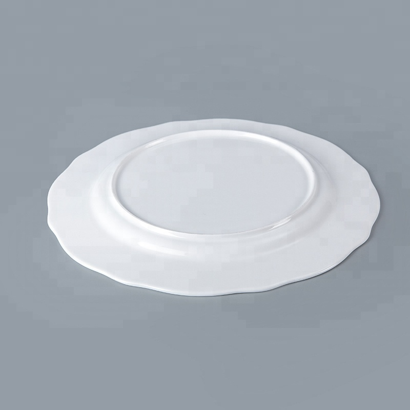 plain white royal fine bone china dinner ware plate set