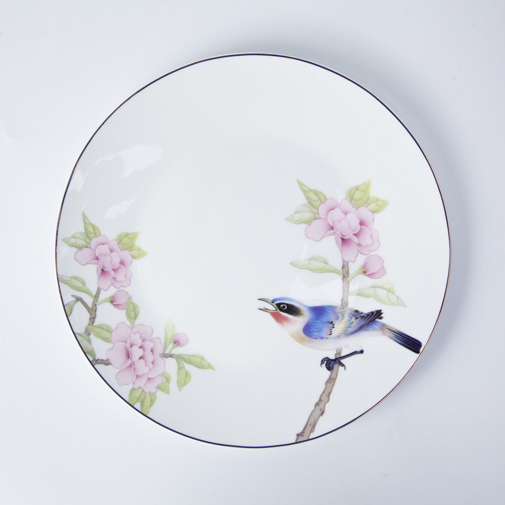 Western style china bone dinner plate set luxury chinaware for hotel