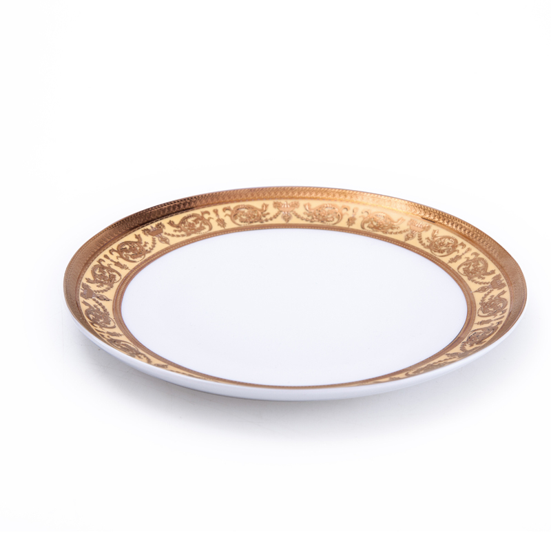 Fine Bone China luxurygold decal B&Bcoupe Plate round server