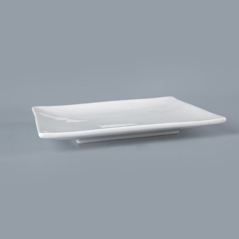 durable porcelain tray Fashionably modern Rectangle Tray Square Tray for restaurant