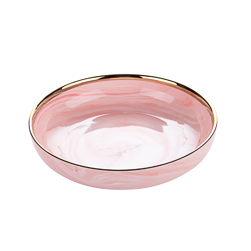 7.5 inch and 9 inch Hotel Kitchen Dinner Buffet Soup Plate for catering, Salad Bowl Crockery Marble Ceramic Deep Bowls&