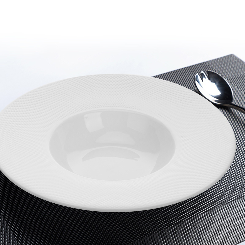 Hotel Kitchen Dinner Buffet Chaffing Dish Soup Plate for catering,New Design Porcelain Tableware Restaurant Plates&