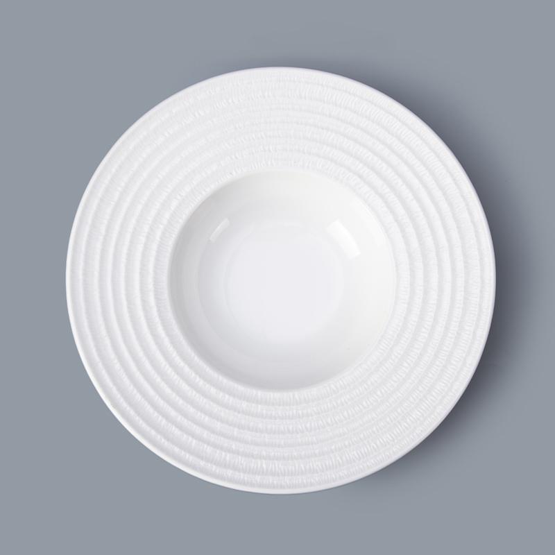 ceramic tableware pasta cooker restaurant pasta plate porcelain