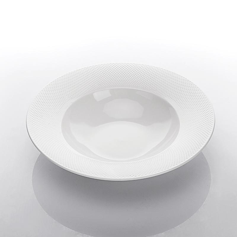 Dishwasher Safe Hotel Wedding Dishes Royal Ceramic Plates For Dinner Restaurant, Eco Friendly Banquet Horeca Pasta Plate@