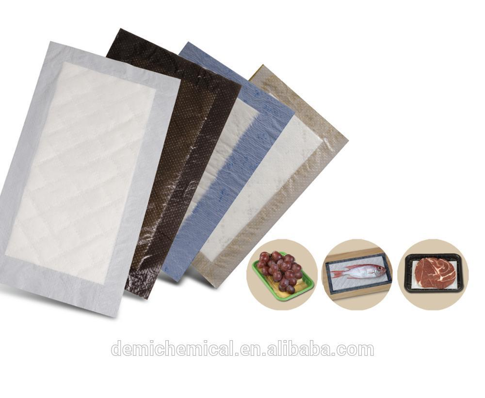 High Absorbency Food Absorbent Pad Environmental Eco-Friendly Meat Pad For Factory