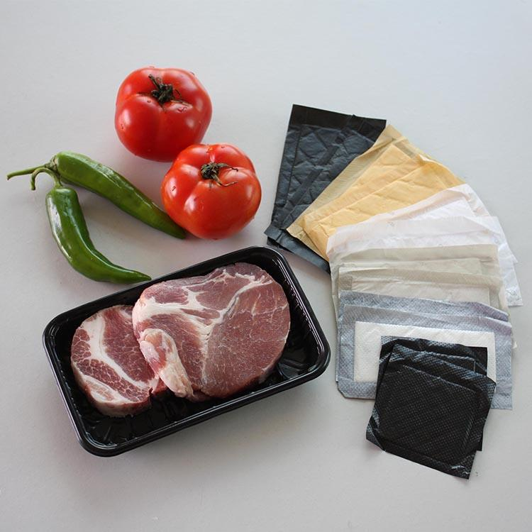 Food Grade Flexible Disposable Meat Absorbent Pad For Food Freshness