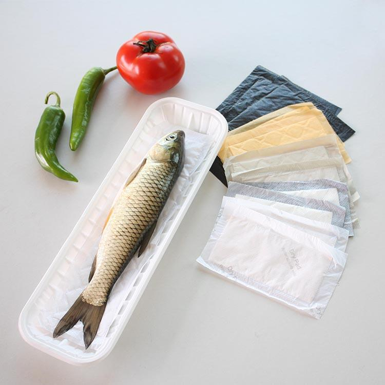 Demi Biodegradable Fda Material Fish Absorbent Pad Meat Tray Pad