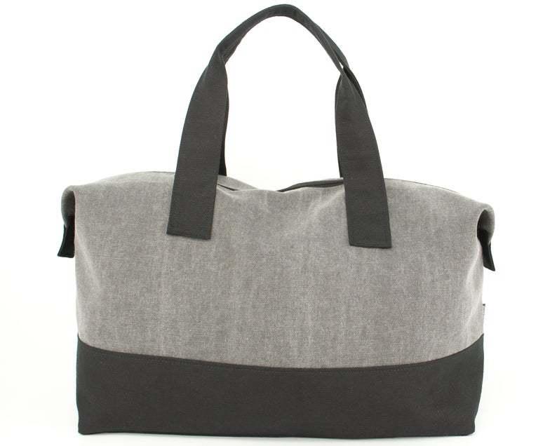 GF-JT2005 Weekender Bag, Cotton Canvas Duffel Bag, Gym Bag UnisexRenewable canvas