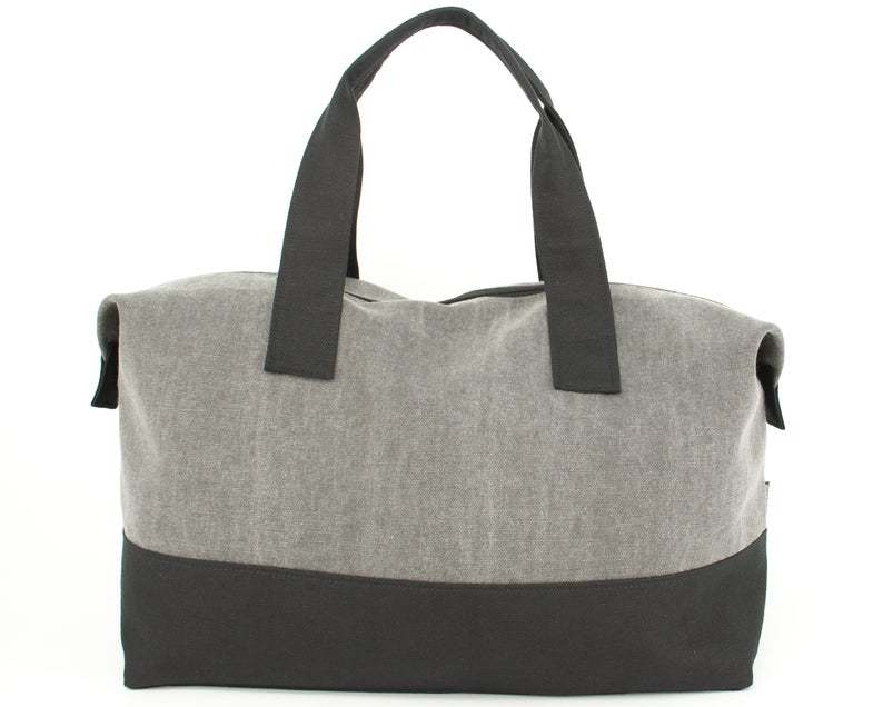 GF-JT2005 Weekender Bag, Cotton Canvas Duffel Bag, Gym Bag UnisexRenewable canvas
