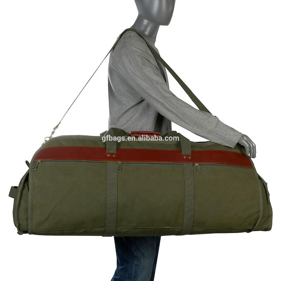 Oversize Military Portable Canvas Men Travel Duffle bag Army Adjustable Strap Weekender bag Foldable man gym big Tote Handbags