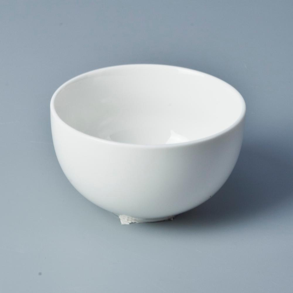 Fine china dinnerware microwavable bowls white porcelain salad bowl