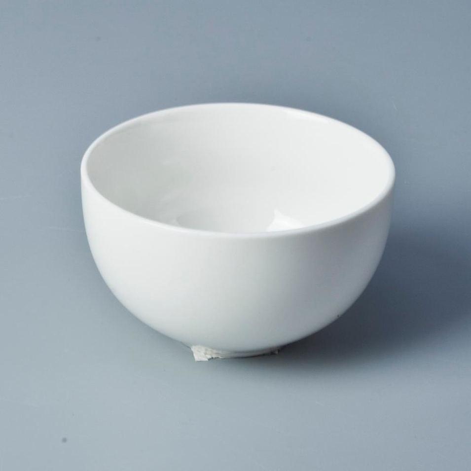 Fine china dinnerware microwavable bowls white porcelain salad bowl