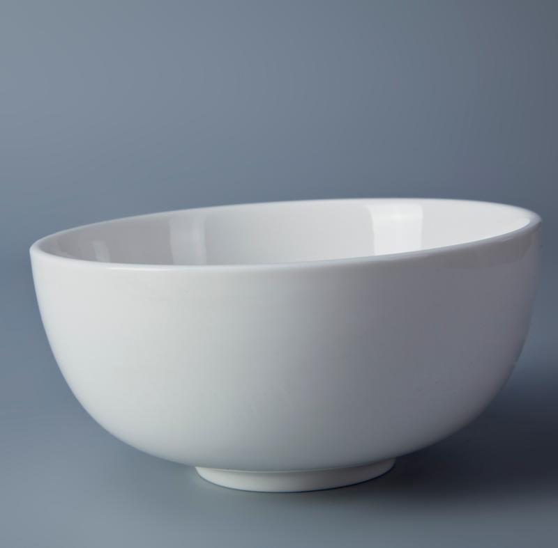 Restaurant Chinese High Temperature Porcelain Ceramic Bowl Soup Food Bowl