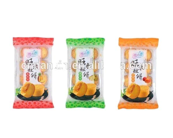 transparent mid-seal snack food packaging bag
