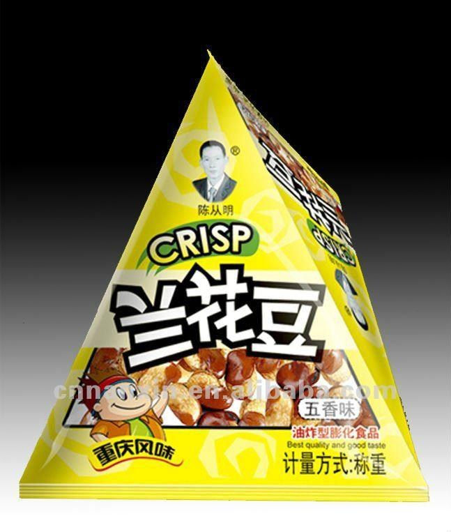 triangle shape laminated bag for snack food