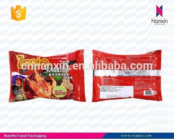 factory supply foil lined instant noodles packaging back seal bag