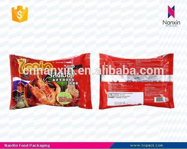 factory supply foil lined instant noodles packaging back seal bag