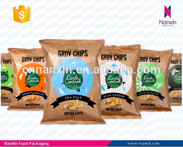kraft paper chips packaging bag