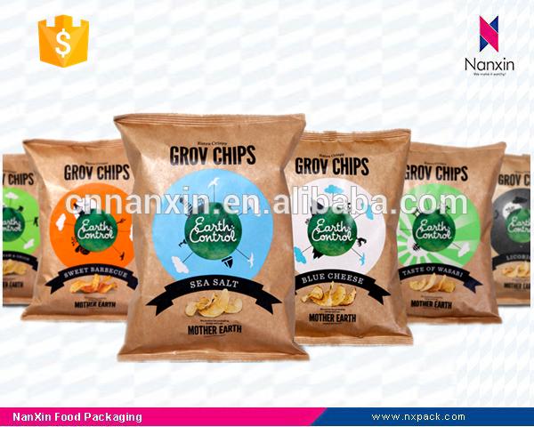 kraft paper chips packaging bag